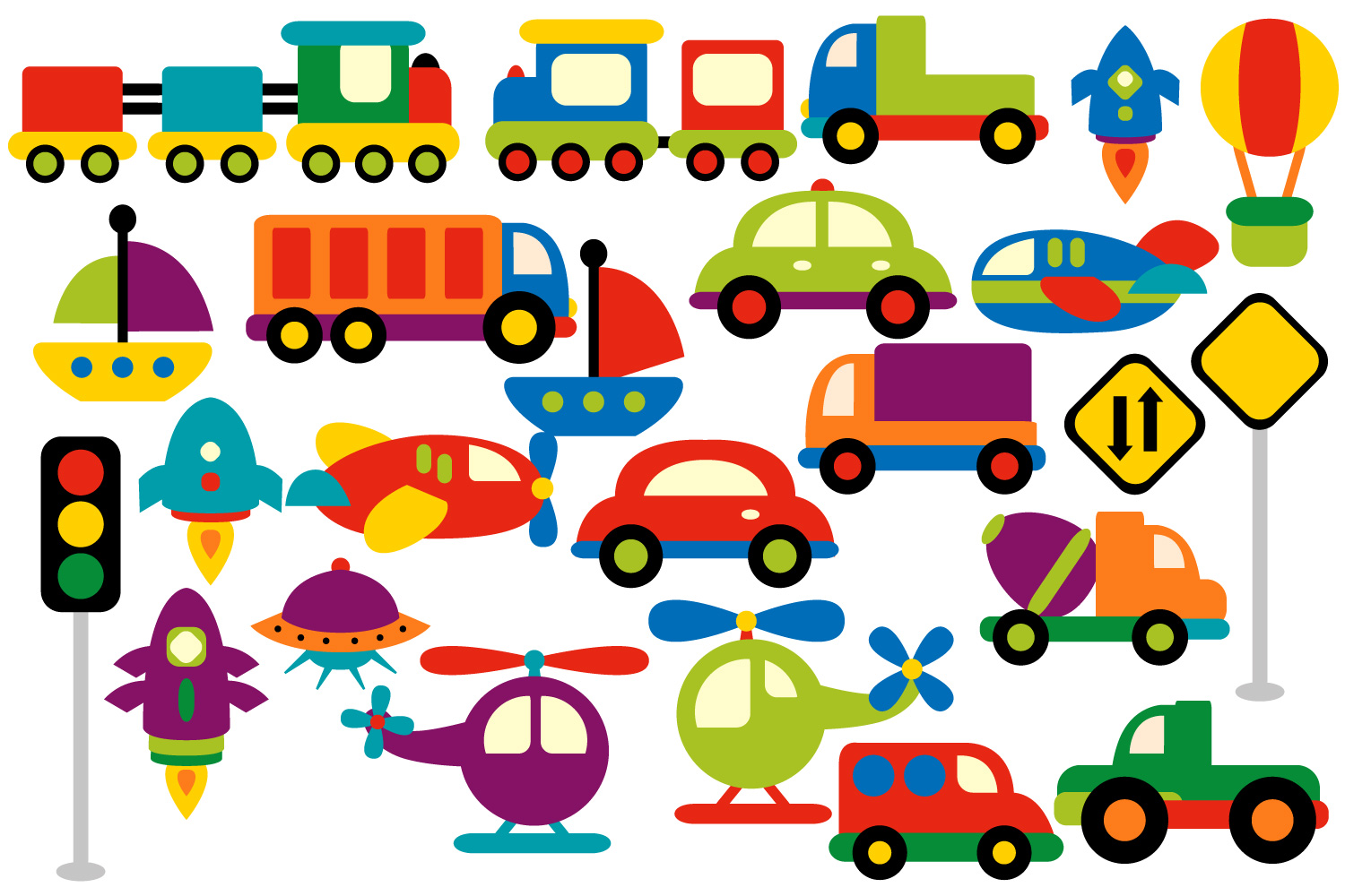 1500x1000 Transportation Clipart Graphics (Water, Design Bundles