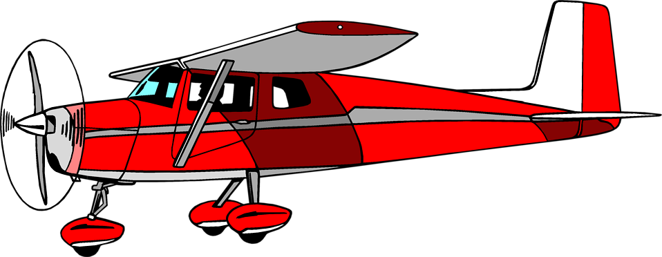 958x372 Illustration Of A Red Cessna Airplane Free Stock Photo Clip