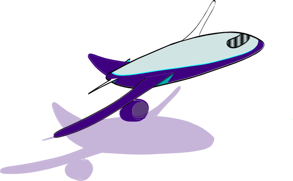 600x371 Airplane Taking Off Clip Art