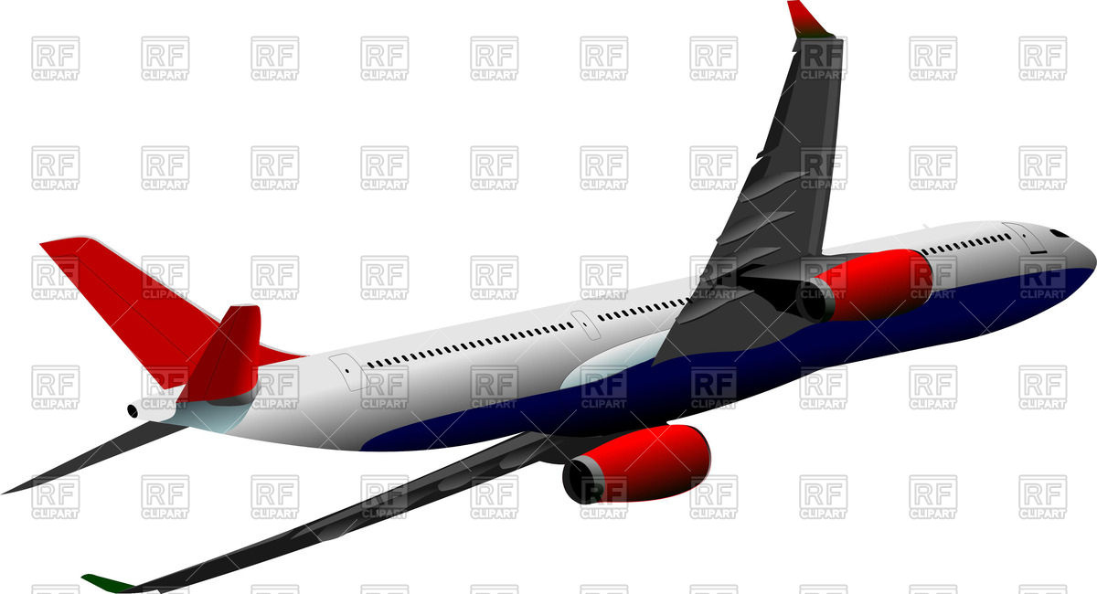 1200x650 Approaching Airplane On White Background Royalty Free Vector Clip