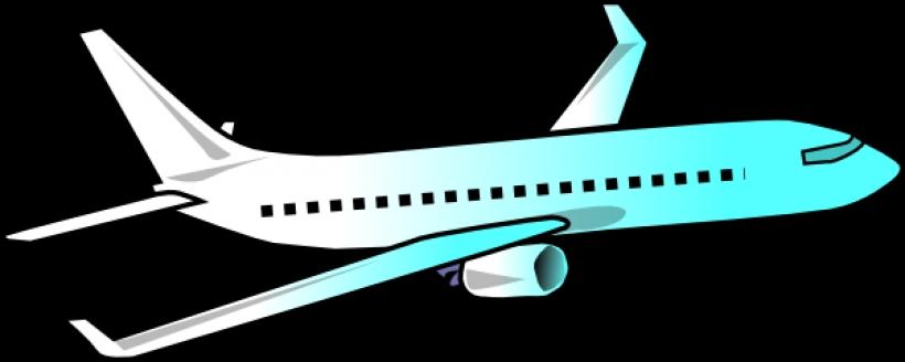 820x328 Airplane Clip Art