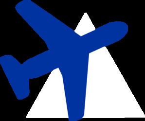 298x249 Blue Plane Clip Art