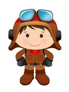 222x296 Little Pilot Digital Clipart Aviator Clip Art Cute Airplane