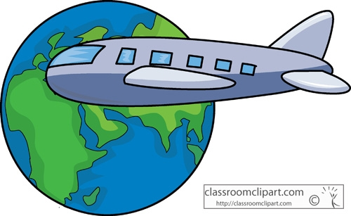 500x307 Collection Of Globe With Airplane Clipart High Quality, Free