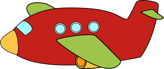 550x232 Cute Airplane Red Airplane Clip Art Image