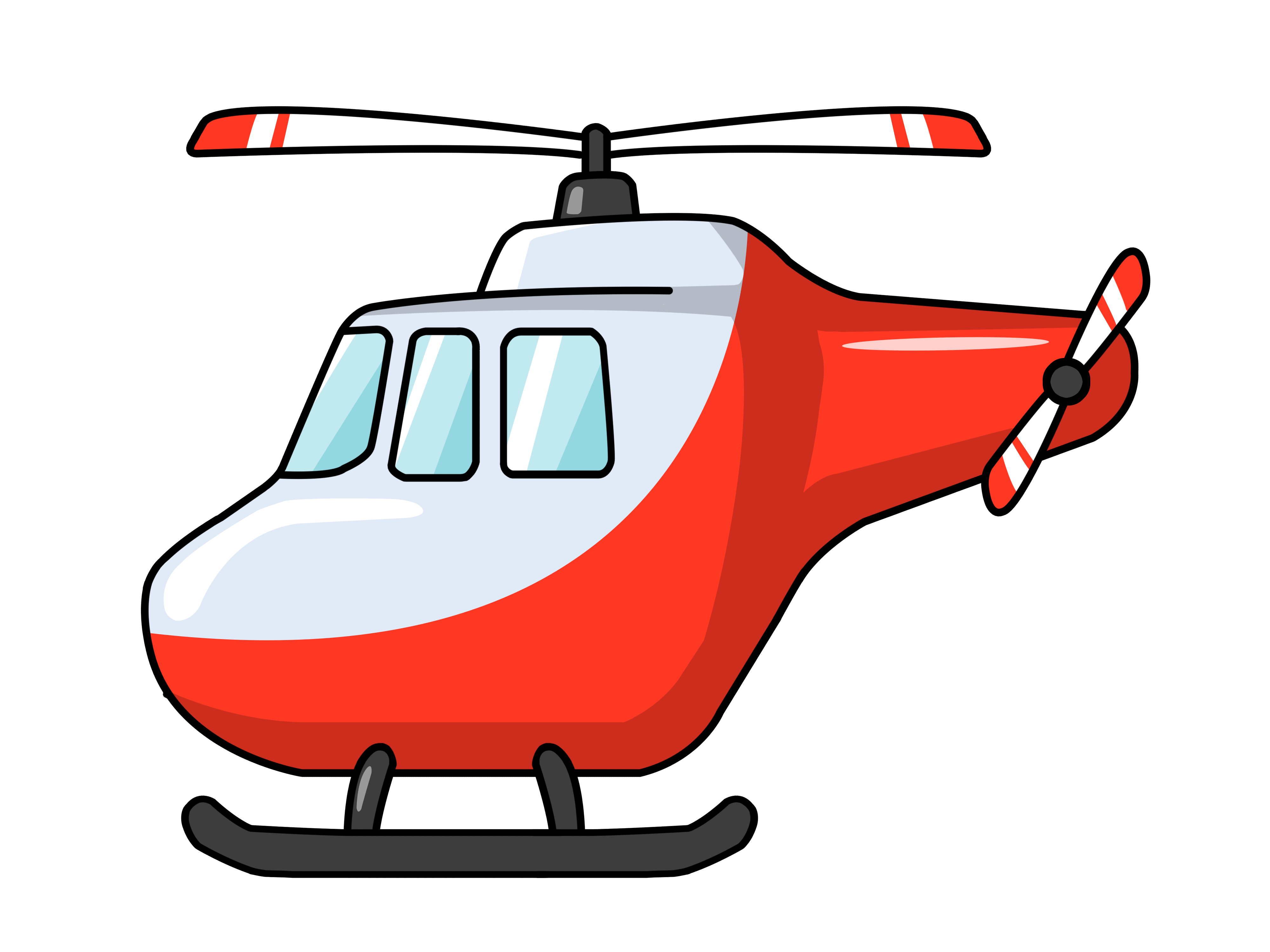 4000x3000 Helicopter Clipart