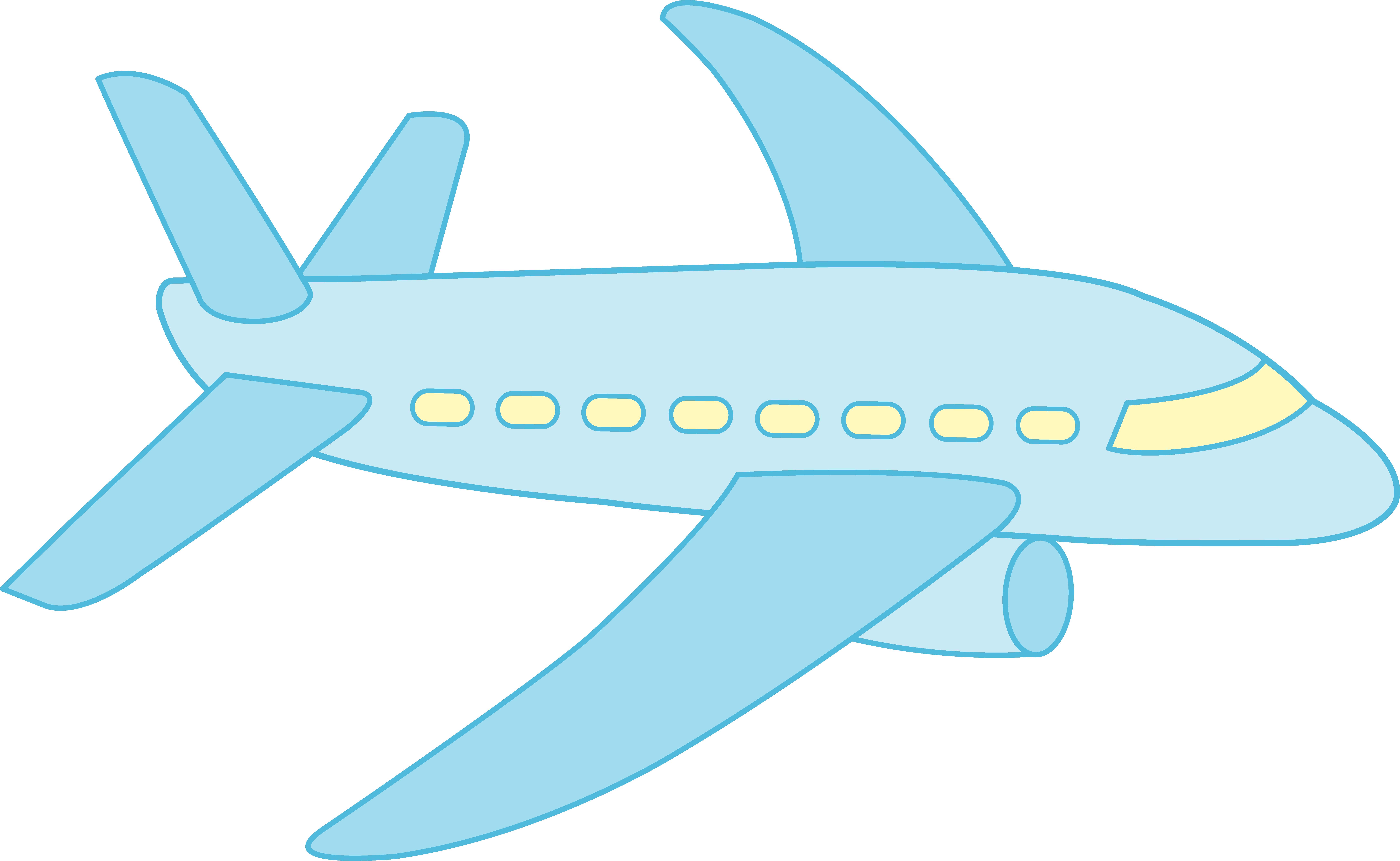8669x5328 Blue Plane Cliparts Free Download Clip Art
