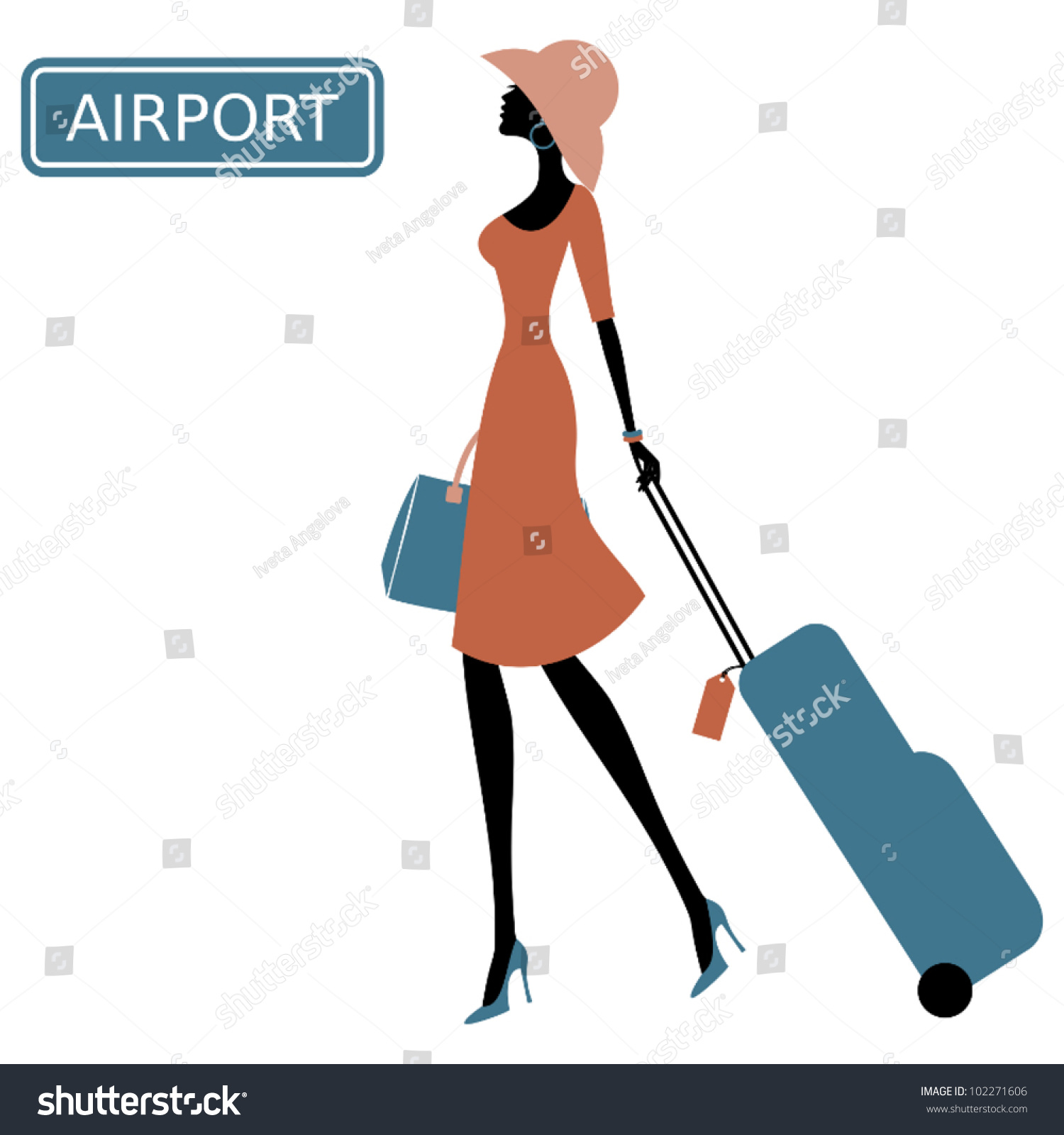 1500x1600 Airport Clipart Suitcase