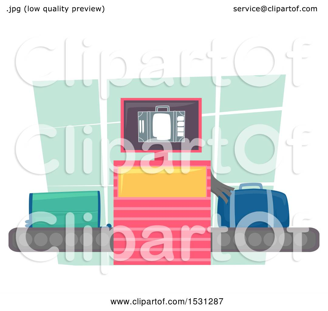 1080x1024 Clipart Of An Xray Machine Scanning Luggage