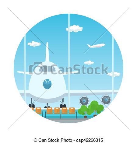 450x470 Icon,view On Airplane Through The Window. Icon Airport , Vector