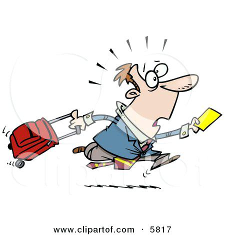 450x470 Late Clip Art Late Traveler Man Running And Pulling His Luggage