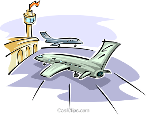 480x377 Airport Royalty Free Vector Clip Art Illustration Tran0878