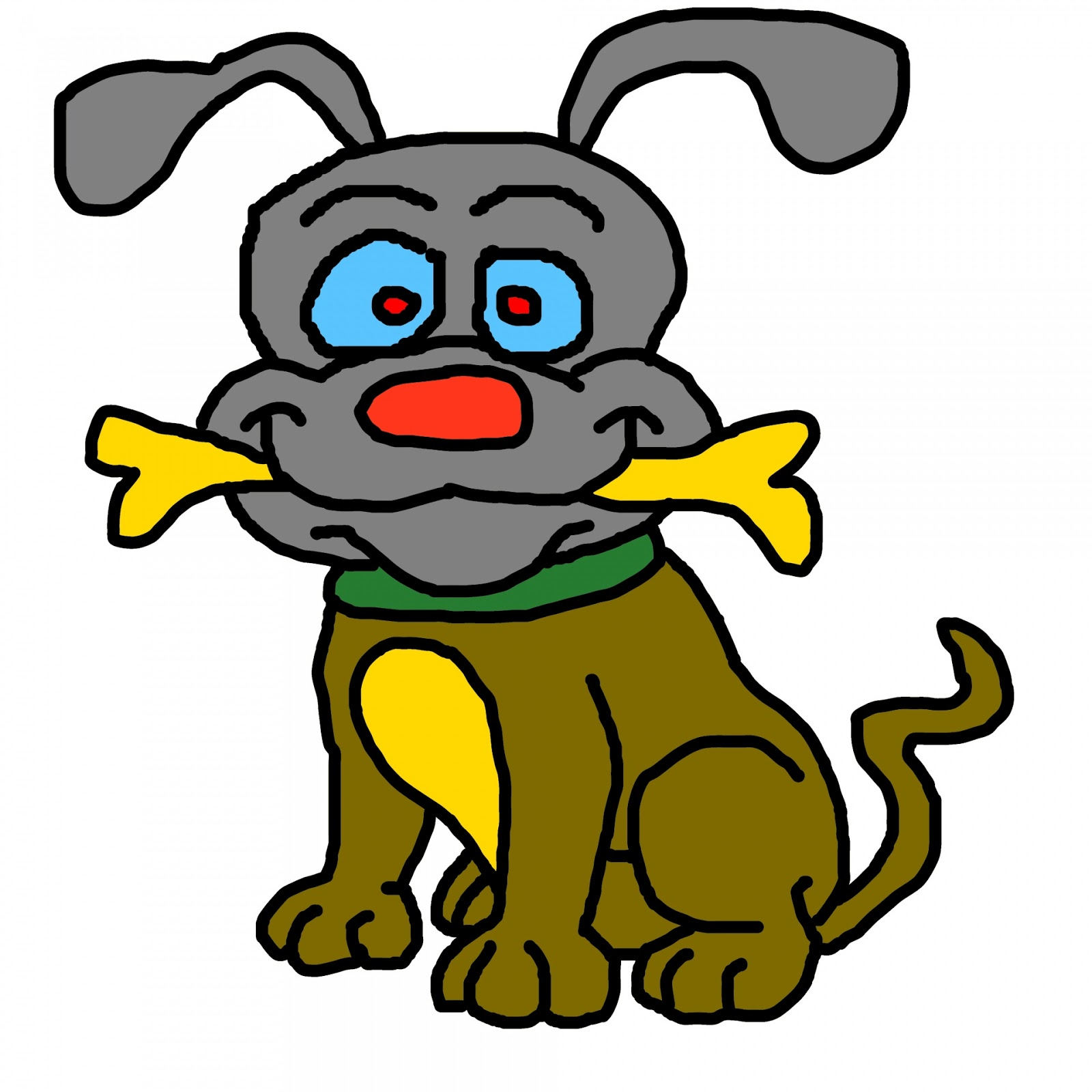 1600x1600 Cute Dog Black And White Clip Art Images Free Download