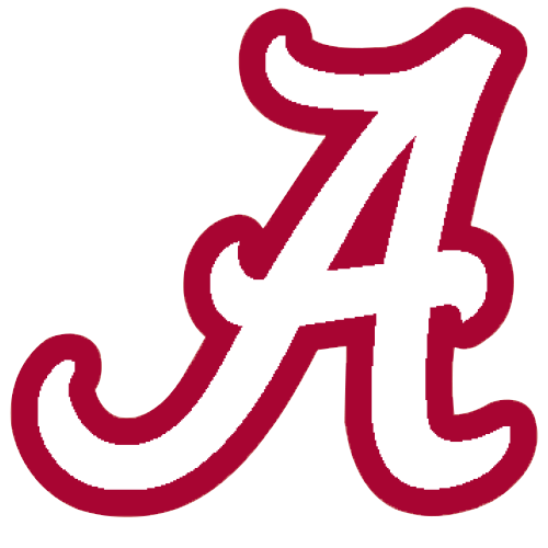 500x500 Logo University Of Alabama Crimson Tide White A Red Outline