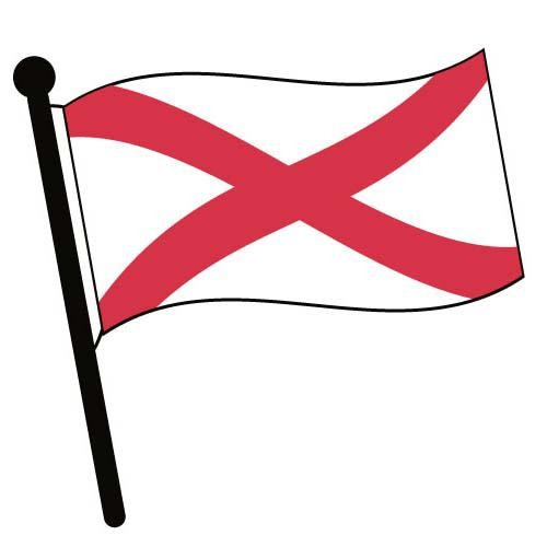 500x500 Alabama Waving Flag Clip Art American Pictures