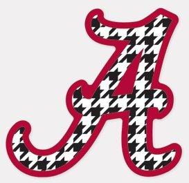 273x265 Alabama Crimson Tide Houndstooth Script A Logo Vinyl