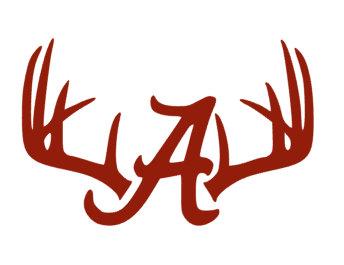 344x265 Deer Antlersrack Alabama A. Crimson Tide. Roll