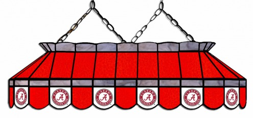 495x232 Alabama Crimson Tide 40 Stained Glass Pool Table Light