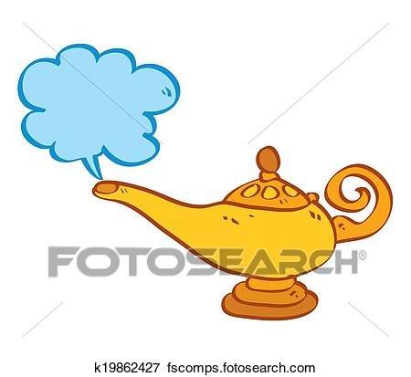 Aladdin Genie Clipart