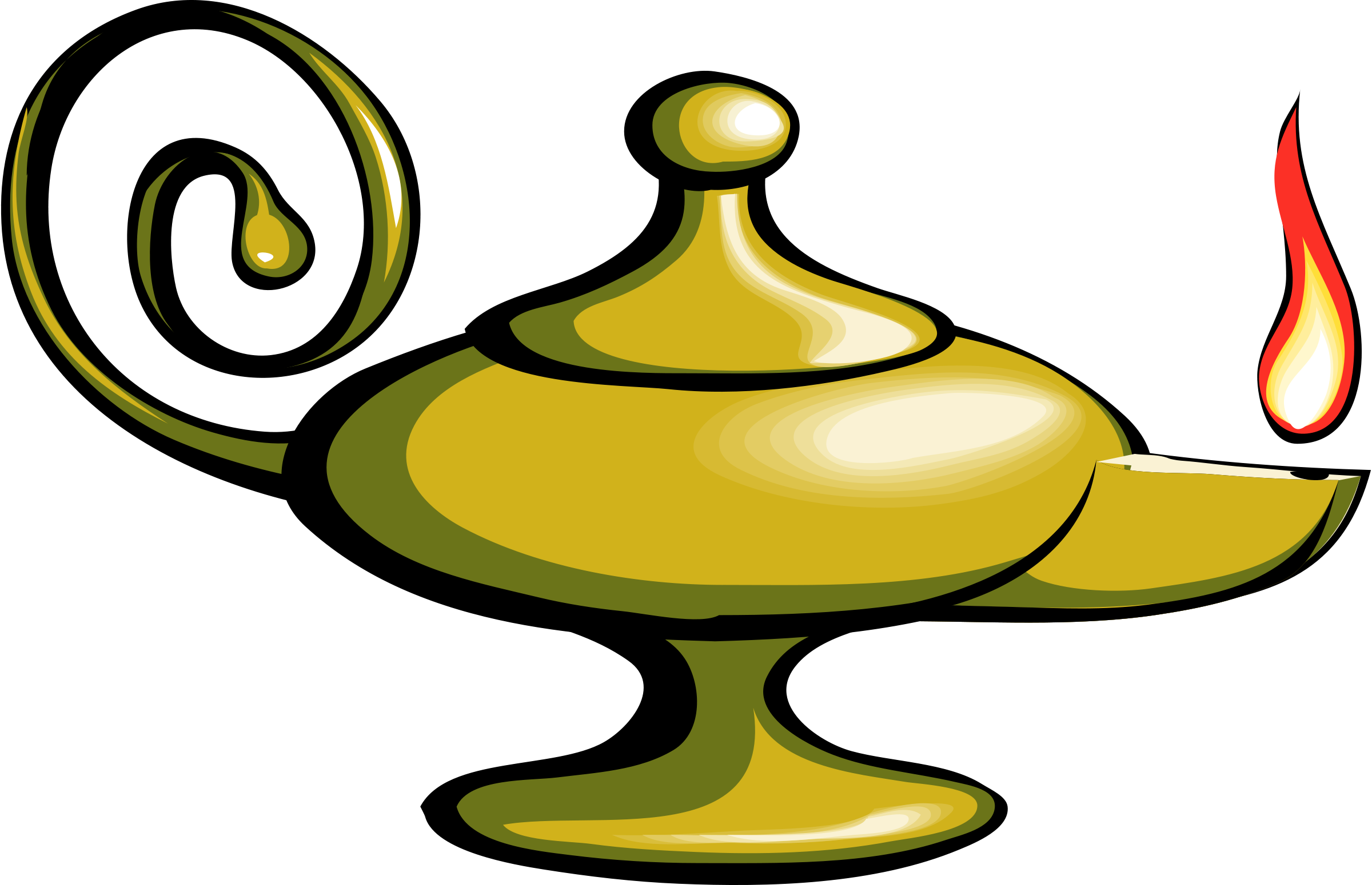 2400x1550 Aladdin Genie Lamp Clip Art