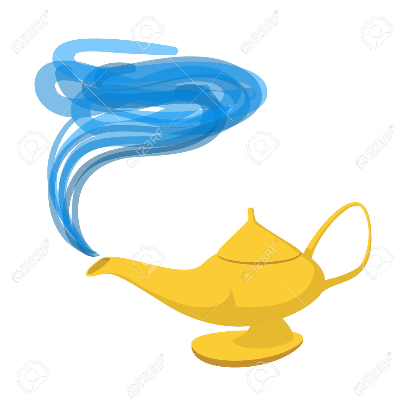 1300x1300 Genie Lamp Clipart Character