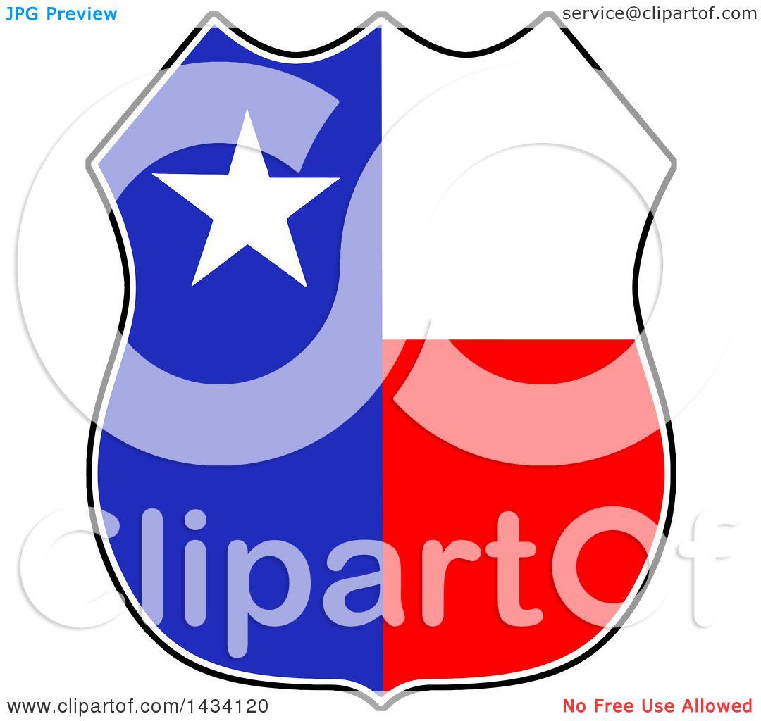 1080x1024 Clipart Of A Cartoon Texas Badge