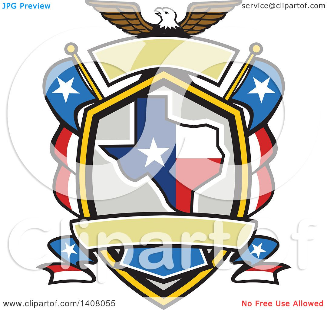 1080x1024 Clipart Of A Retro Bald Eagle Crest With The State Of Texas
