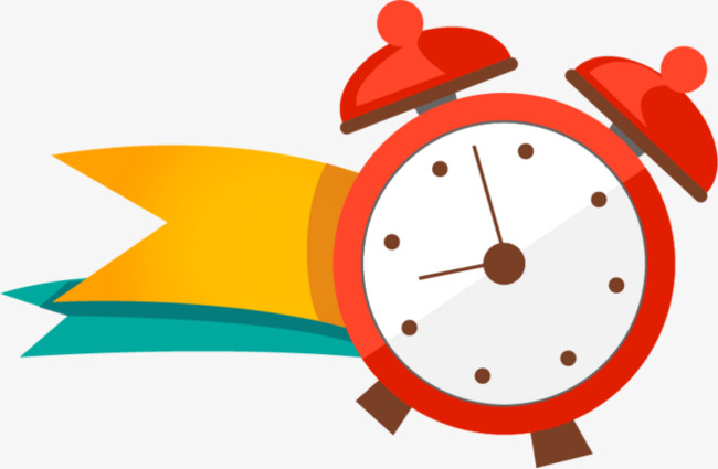 650x425 Cartoon Red Small Alarm Clock, Small Alarm Clock, Cartoon, Red Png