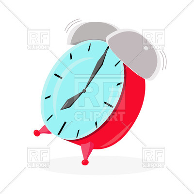 400x400 Red Ringing Alarm Clock Royalty Free Vector Clip Art Image