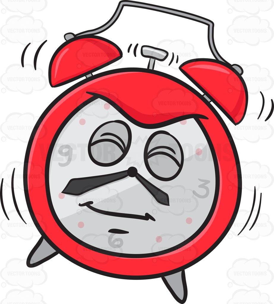922x1024 Startled Alarm Clock Going Off Emoji Cartoon Clipart Vector Toons