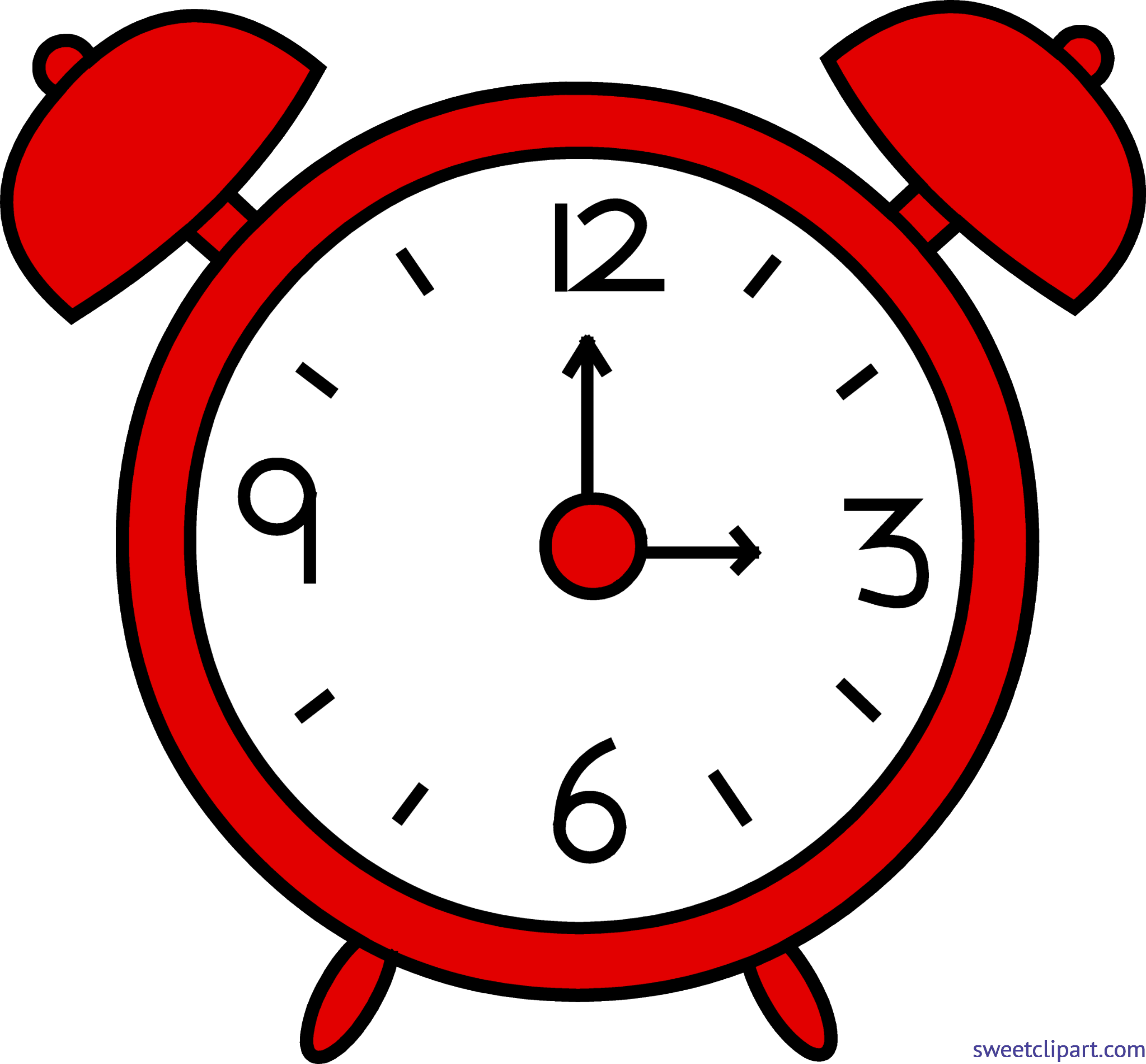 5026x4669 Alarm Clock Red Clip Art
