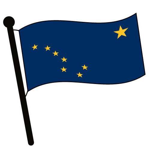 500x500 Alaska Waving Flag Clip Art