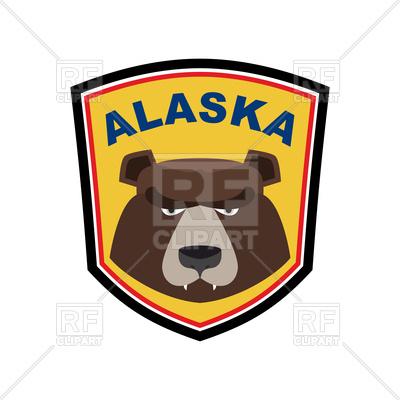 400x400 Alaska Bear Emblem Royalty Free Vector Clip Art Image