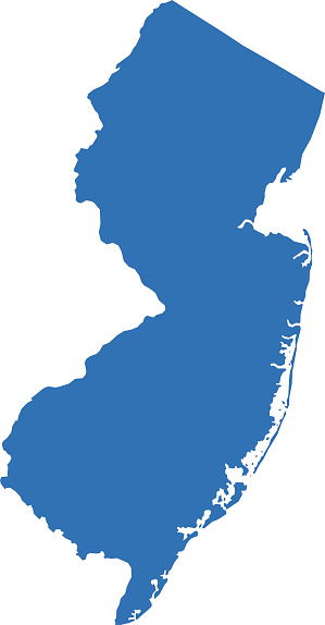 299x574 Clipart Map Of New Jersey