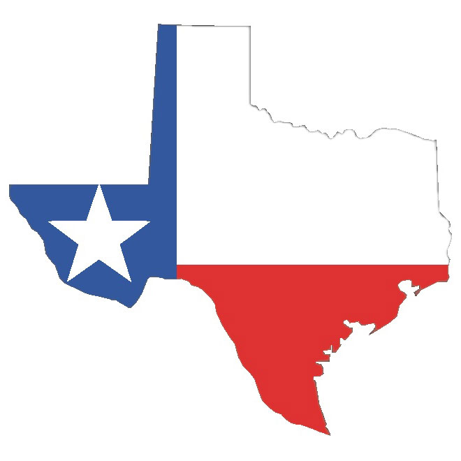 660x660 Vector Map Of Texas With Flag