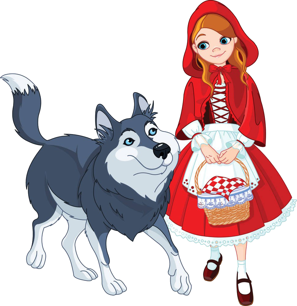 970x1000 Big Bad Wolf Little Red Riding Hood Clip Art