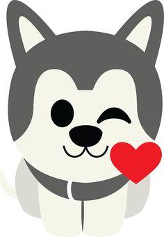 236x341 Cartoon Siberian Husky Alaskan Malamute Cutout Siberian