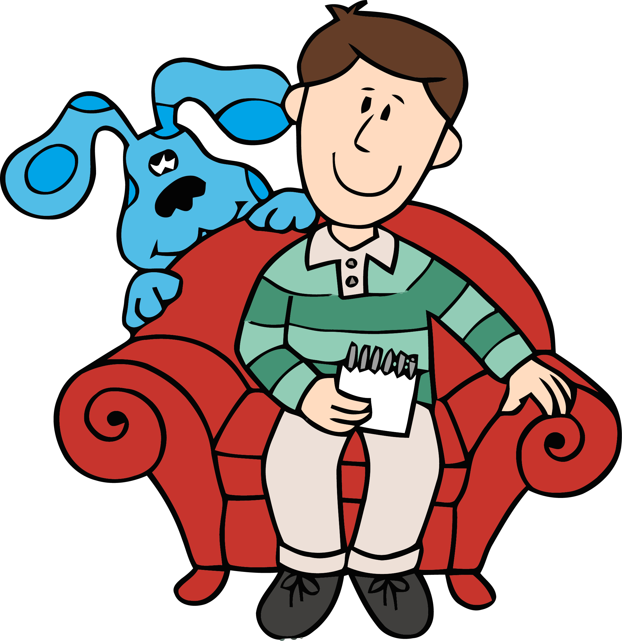 2150x2218 Blue's Clues Clip Art And Man Clipart Png