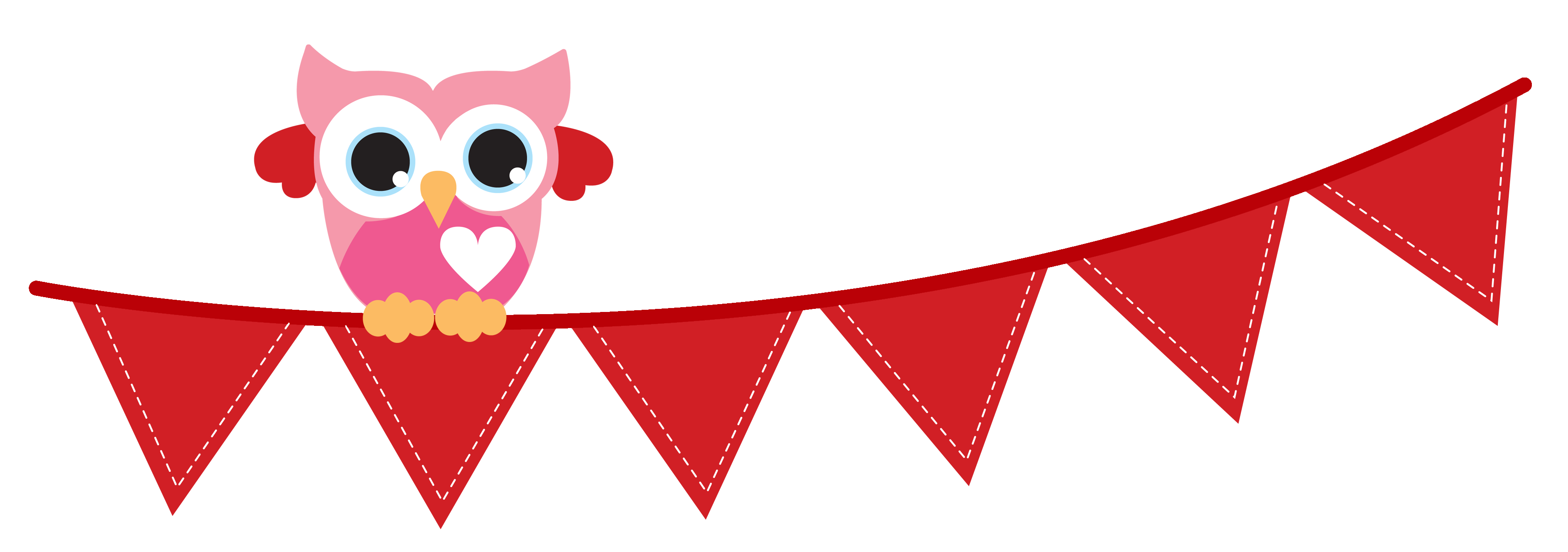 3600x1267 Bunting Clipart Long