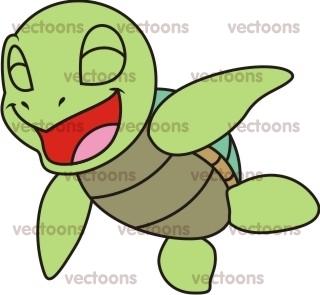 320x295 Joyful Baby Turtle Illustration