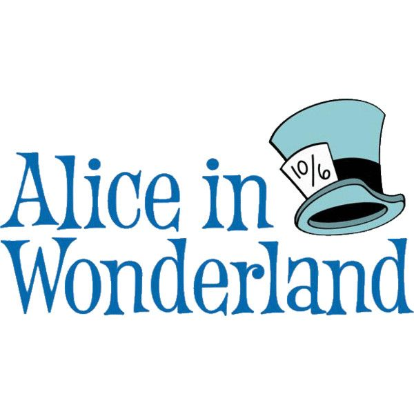 600x600 Disney Alice In Wonderland Clip Art Liked On Polyvore Featuring