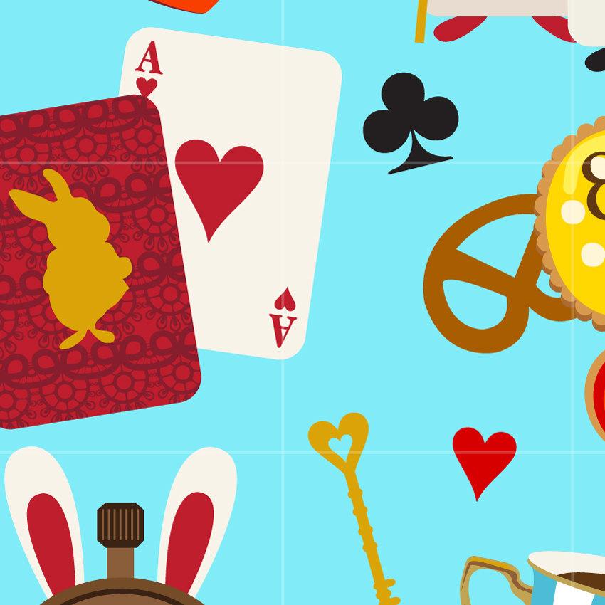 850x850 Alice Wonderland Digital Vector Clip Art Alice Adventure Clipart