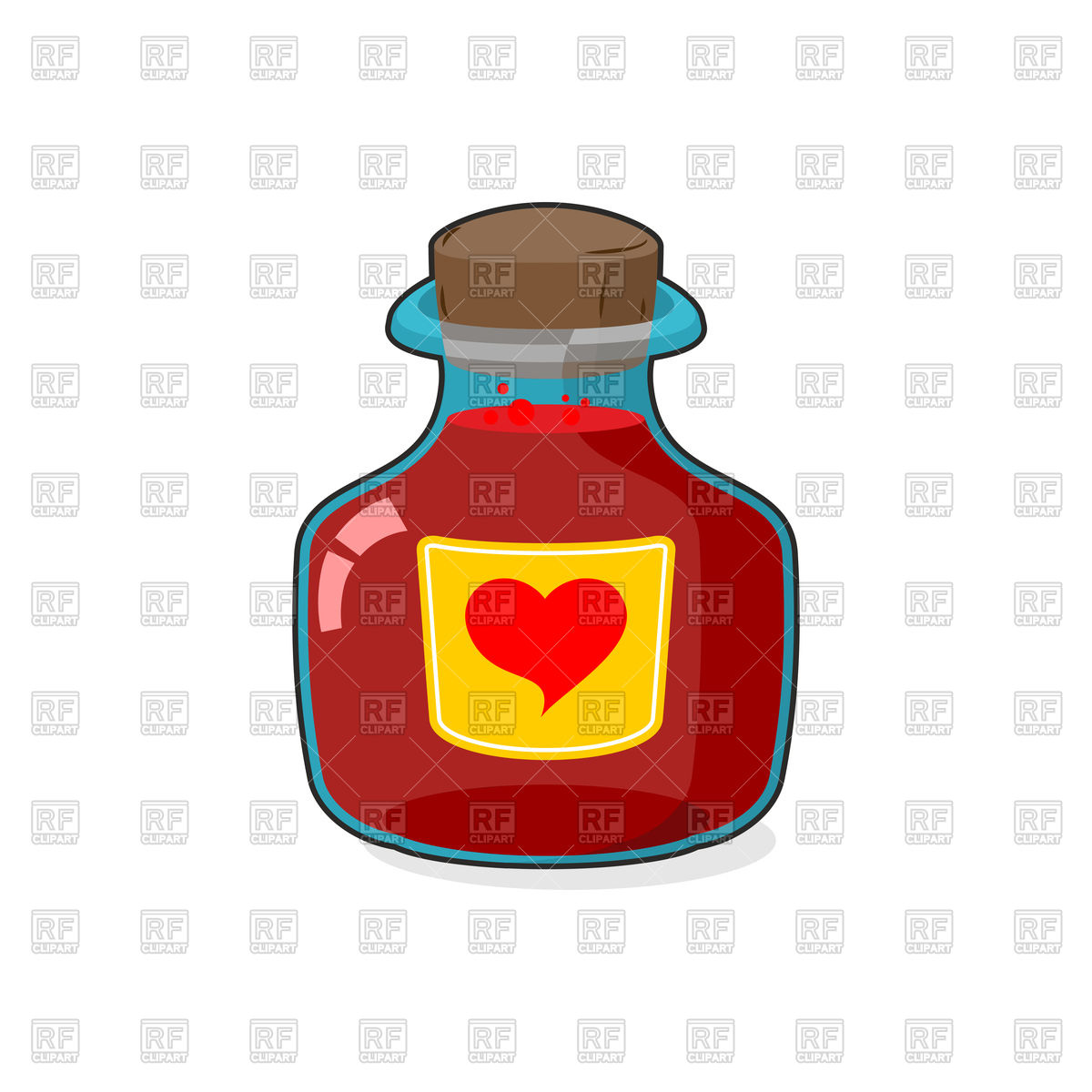 1200x1200 Love Potion Bottle Royalty Free Vector Clip Art Image