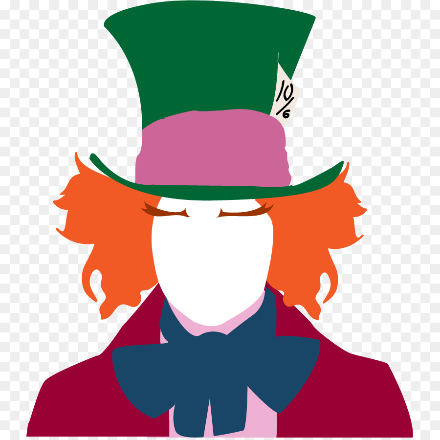 900x900 The Mad Hatter Alice's Adventures In Wonderland Silhouette Clip