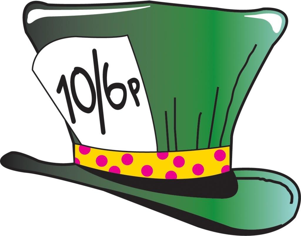 1024x802 Alice In Wonderland Mad Hatter Hat Clipart