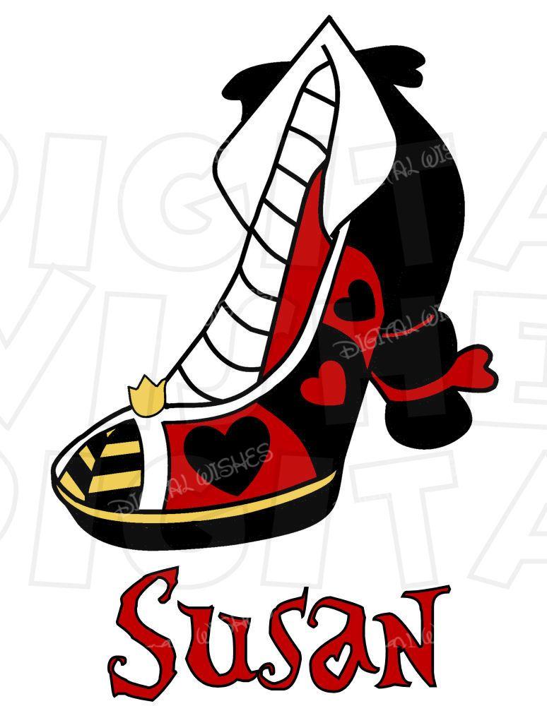 774x1000 Queen Of Hearts From Alice In Wonderland High Heel Shoe Instant