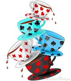 236x271 Alice In Wonderland Tea Party Clip Art Tea Cups Pyramid Royalty