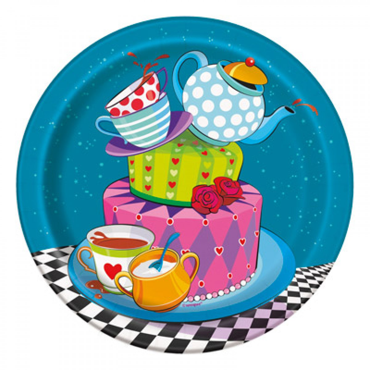 1200x1200 Mad Hatter Tea Party Plates (Alice In Wonderland) Party Dessert