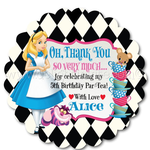 612x612 Alice In Wonderland Mad Hatter Tea Party Favor Tags [Di 691ft