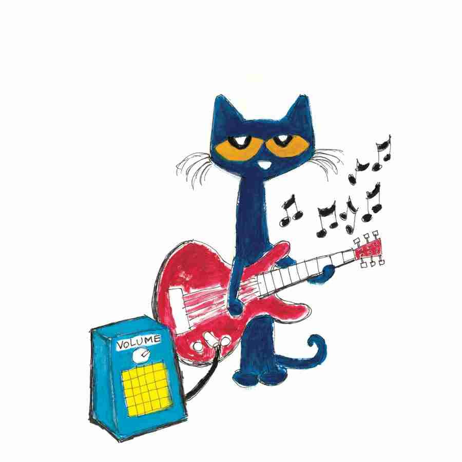 900x900 Pete The Cat Clipart With Guitar Clip Art Inside Remarkable
